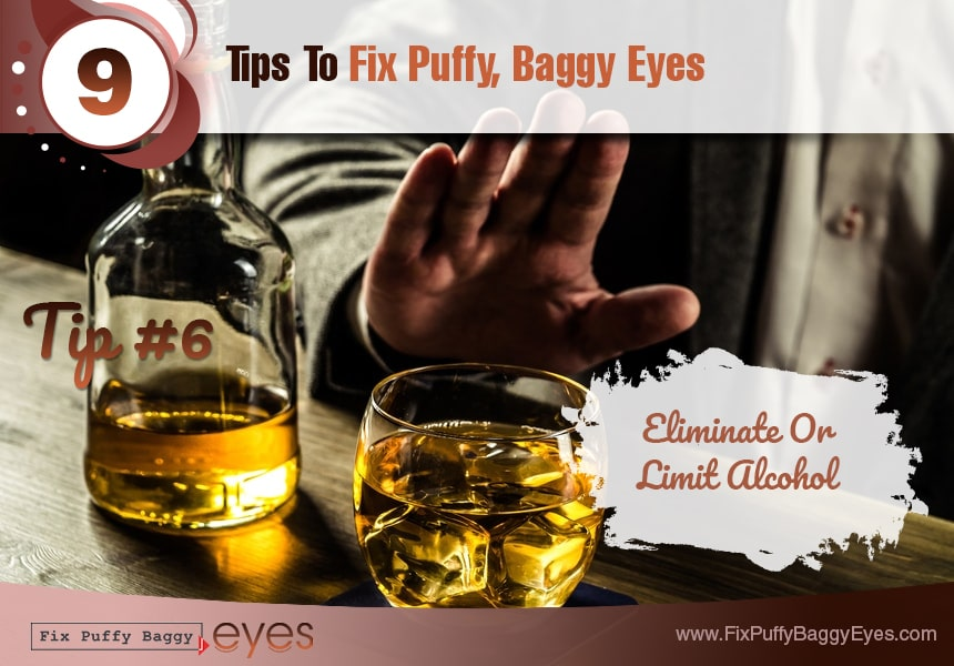 get a bedtime routine developed fix puffy baggy eyes